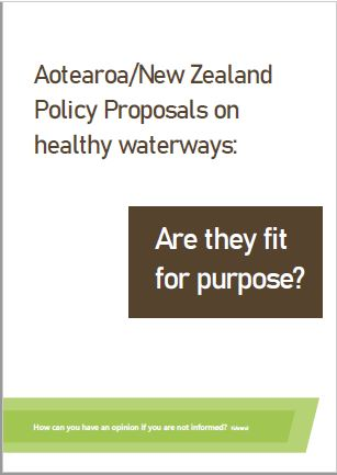 NZ Healthy Waterways Submission cover
